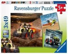 Ravensburger 93014  Puzzle CLAAS: Axion, Lexion, Xerion 3 x 49 Teile