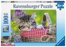 Ravensburger 105397  Puzzle Schlafendes Kätzchen 100 Teile