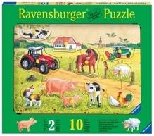 Ravensburger 36721  Holzpuzzle Kunterbunter Bauernhof 10 Teile