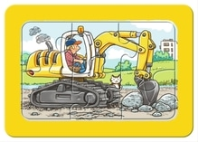 Ravensburger 65738  My first Puzzle Bagger, Traktor und Kipplader 3 x 6 Teile