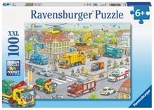 Ravensburger 105588  Puzzle Fahrzeuge in der Stadt 100 Teile