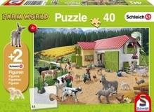Kinderpuzzle Schleich (+Zusatz), Ein Tag auf dem Bauernhof, 40 Teile