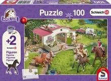 Kinderpuzzle Schleich (+Zusatz), Ausritt ins Grüne, 100 Teile