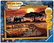 Ravensburger 288199  Malen nach Zahlen - Afrikanische Impression