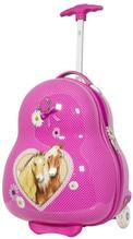 Kleiner Kindertrolley mit LED Rädern Kinderkoffer Pferde