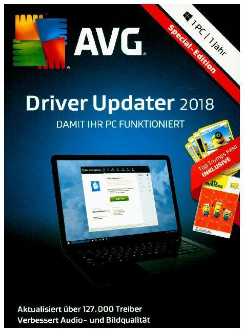 AVG Driver Updater 2018, 1 PC, 1 Jahr, 1 DVD-ROM (Special Edition)