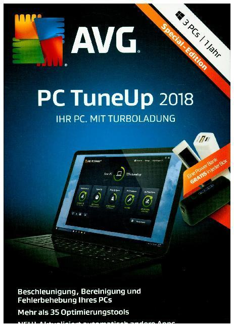 AVG PC TuneUp 2018, 3 PCs, 1 Jahr, 1 DVD-ROM (Special Edition)