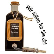 Laux 'Blutorangen Balsam' 3 % Säure, in verschiedenen Flaschenformen und Mengen!