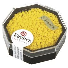 Premium-Rocailles, 2,2 mm ø, opak, goldgelb, Dose 8g