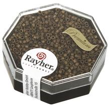 Delica-Rocailles, 1,6mm ø, metallic matt, Dose, rauch topas, 4g