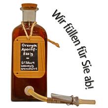 Laux 'Orangen Aperitif-Essig' Weinessig aromatisiert 6 % Säure, in verschiedenen Flaschenformen und Mengen!