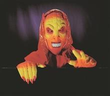 rote grusel Maske mit Händen Halloween