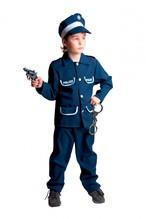 Polizeianzug für Kinder,  Hose, Jacke, Kappe