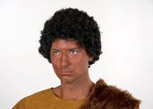 Afro Perücke schwarz Karneval Fasching