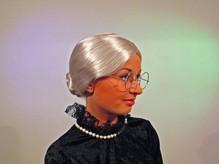 Perücke Oma Grossmutter Silber grau Karneval Fasching