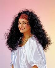 Perücke Esmeralda mit Haar und Stirnband Karneval