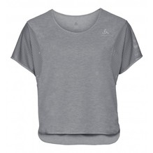 Odlo Damen BL TOP cropped crew neck grey melange 350101