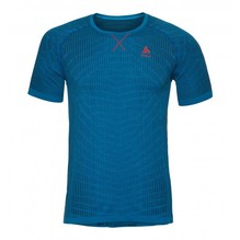 Odlo Shirt Men BL Top Crew Neck s/s blackcomb Farbe: energy blue-blue jewel 312392
