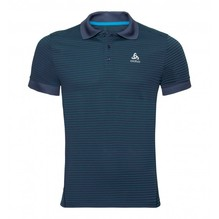 ODLO Herren Polo NIKKO DRY Farbe: diving navy-energy blue-stripes 550062