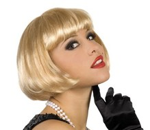 Perücke Cabaret Pagenkopf blond Neu Karneval Fasching