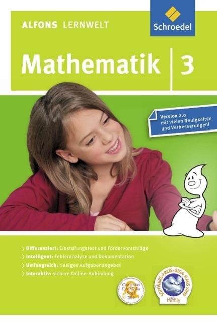 Alfons Lernwelt Lernsoftware Mathematik 3. CD-ROM | Flierl, Ute; Francich, Wolfgang; Wagenhäuser, Rainer