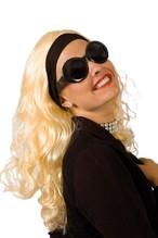 Perücke Jackie blond Neu Karneval Fasching