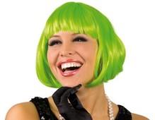 Perücke Cabaret Pagenkopf grün Neu Foxy Pagenschnitt