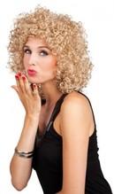 Perücke Club blond sehr lockiges Haar Dauerwelle