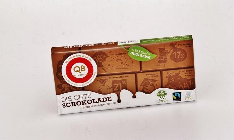 FAIRTRADE Vollmilchschokolade ***QB Special Edition*** 100g