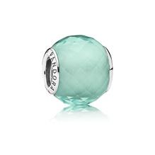 Grün irisierende Petite Facetten Pandora Charm 791499SGQ