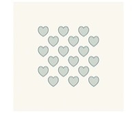HeinDesign Grafische Schablonen - Viele Herzen