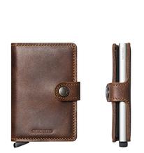 Secrid Credit Card Protector Mini Wallet Brown Vintage Kreditkartenbox MV-Brown
