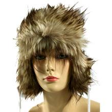 Eisbär Mütze Iceland mit Kunstfell und Ohrenklappen grau melange 363455
