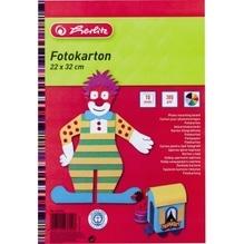 Herlitz Fotokarton 237008 22x32cm 10Bl farbig