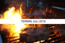 """Anmeldung/Gutschein für das Grillseminar """"Unser Klassiker - Surf & Turf' (Freitag, 20.07.18)"""