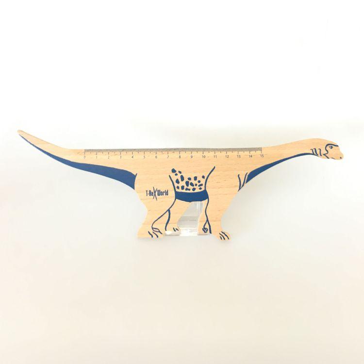 T-Rex World Dinosaurier Holzlineal