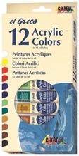 Hobby Line el Greco Acrylfarben 12 Tuben je 12 ml