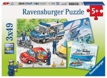 Ravensburger 92215  Puzzle Polizeieinsatz 3 x 49 Teile