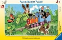 Ravensburger 63499  Rahmenpuzzle Der Maulwurf als Lokführer 15 Teile