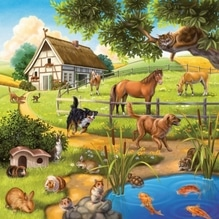 Ravensburger 92659  Puzzle Wald-/Zoo-/Haustiere 3 x 49 Teile