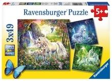 Ravensburger 92918  Puzzle Schöne Einhörner 3 x 49 Teile