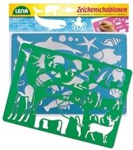 LENA Zeichenschablonen Sortierung 26 x 19 cm