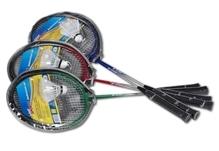 New Sports Badminton-Set mit 2 Schläger und 1 Ball