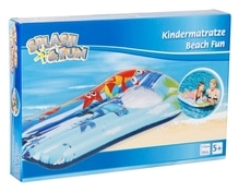 Splash & Fun Kindermatratze Beach Fun Sichtfenster 110x60cm