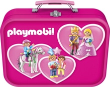 Puzzle-Box im Metallkoffer, Playmobil, Puzzle-Box pink, 2x60, 2x100 Teile