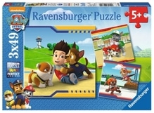 Ravensburger 93694 Puzzle Paw Patrol Helden im Fell  3 x 49 Teile