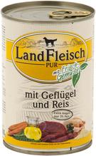 Landfleisch pur mit Geflügel und Reis