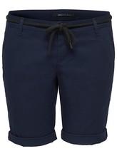 ONLY Damen Shorts  PARIS L LONG CHI BELT SHORTS PNT NOOS