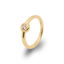 Verlobungsring und Antragsring mit  einem Brillant - Ring  in 750 Gelbgold – Handarbeit aus unserer Meisterwerkstatt