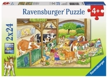 Ravensburger 91959  Puzzle Fröhliches Landleben 2 x 24 Teile